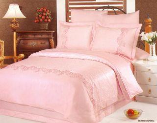 Постельное белье жаккард с вышивкой Beatrice (Pink) Le Vele